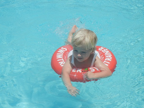 This is Jack, using the SWIMTRAINER.  By himself!